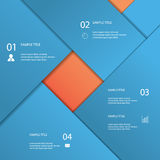 Infographics template with material design Stock Photography