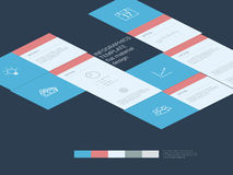 Infographics template. Menu options elements. Material design layout. Line art icons, graphs and charts. Project management concept. Eps10 vector illustration Royalty Free Stock Photo