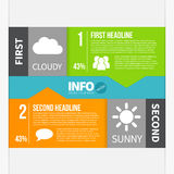 Infographics template Stock Photo