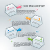 Infographics-template-report-hexagon01 Photos stock