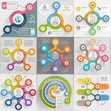 Infographics template set. Vector illustration. Royalty Free Stock Images