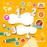 Infographics Template with Technology Icons Royalty Free Stock Image