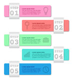 Infographics templates 5 steps. Business concept. Infographics templates 5 steps, options, parts, processes. Infographic business concept. Arrows elements for Royalty Free Stock Photo