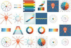 Infographics with text area nine and ten positions Royalty Free Stock Photos