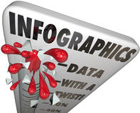 Infographics Thermometer Measuring Data Illustration Use Stock Photo
