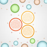 Infographics - three color circle panels Stock Images