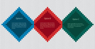 Infographics with three options. Royalty Free Stock Photography