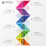 Infographics timeline. Colorful concept with arrows. Vector illustration Royalty Free Stock Image
