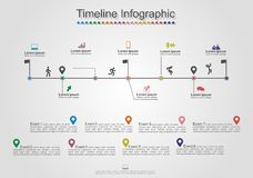Infographics timeline element layout. Vector Royalty Free Stock Photography
