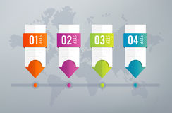 Infographics Timeline Royalty Free Stock Photos