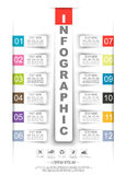 Infographics timeline stiker paper template twelve option Royalty Free Stock Image
