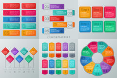 Infographics timeline. Vector illustration. Business concept. Stock Image