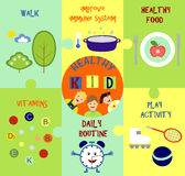 Infographics on the topic of child health. Infographics on the topic of children, and child health Royalty Free Illustration