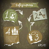 Infographics with torn pieces of paper Royalty Free Stock Photo