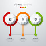 Infographics trois options Photo stock