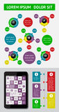 Infographics und Netzelemente Stockfotografie