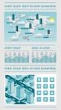 Infographics und Netzelemente Lizenzfreies Stockbild