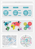 Infographics und Web-Elemente Stockfotos
