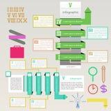 Infographics universal con el vector eps10 de la flecha de la Línea Verde Imagen de archivo