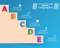 Infographics up the ladder to success. Business stair. 3D infographics and business ladder. Marketing info Stock Photography