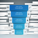 Infographics up the ladder to success. Business stair. 3D paper blue infographics and business ladder Stock Images