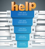 Infographics up the ladder to success. Help stair. 3D infographics and business ladder. Vector, eps 10 Vector Illustration