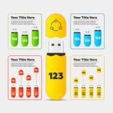 Infographics. Usb flash card bar chart Stock Photos