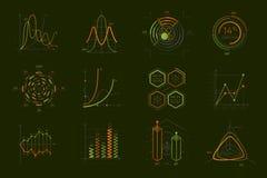 Infographics ustawiający dla biznesowej prezentaci ilustracji