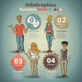 Infographics ustawiający w stylu nakreślenia globalny internet Obrazy Royalty Free