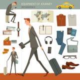 Infographics van bedrijfsreis en reisconcept Stock Afbeelding
