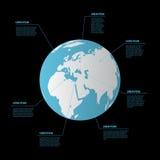 Infographics van de bolaarde Vector illustratie vector illustratie