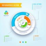 Infographics van de cirkelgrafiek Stock Foto's