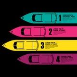 Infographics van de rasboot Royalty-vrije Stock Foto
