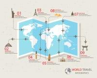Infographics van de reis vector illustratie