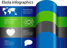 Infographics van eindeebola Royalty-vrije Stock Afbeelding