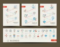 Infographics van financiën, wetenschap, opstarten, zaken Stock Foto's