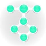Infographics van het Metaball kleurrijke ronde diagram Stock Fotografie
