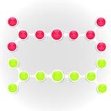 Infographics van het Metaball kleurrijke ronde diagram Stock Foto