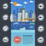 Infographics van het stadsverkeer Stock Foto's
