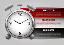 Infographics van het tijdbeheer Stock Afbeeldingen