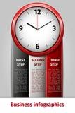 Infographics van het tijdbeheer Royalty-vrije Stock Foto