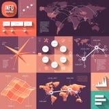 Infographics van vlak ontwerp met lange schaduwen Royalty-vrije Stock Afbeelding