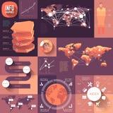 Infographics van vlak ontwerp met lange schaduwen Royalty-vrije Stock Fotografie