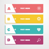 Infographics variopinto di vettore Fotografie Stock