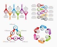 Infographics variopinto stabilito sotto forma di metabolico Elementi di disegno Fotografia Stock Libera da Diritti