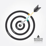 Infographics vector business arrow design. customer target. Royalty Free Stock Photos