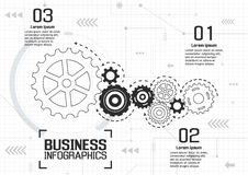 Infographics vector business design Stock Images