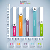 Infographics vector design template. Abstract 3d signpost infographics design template. EPS10 Stock Image