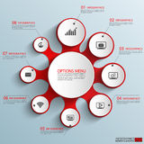 Infographics vector design template. EPS10 Royalty Free Stock Photos