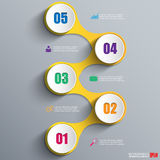 Infographics vector design template Royalty Free Stock Image